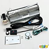 bbq factory Standard Sized BLOT Replacement Fireplace Blower Fan KIT for Monessen, Hearth Systems, Martin, Majestic, Hunter