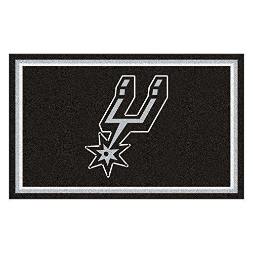 FANMATS 20444 NBA - San Antonio Spurs 4'X6' Rug, Team Color, 44''x71'' by Fanmats