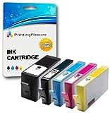 Printing Pleasure 5 (FULL SET) Compatible Ink Cartridges Replacement for HP 364XL Photosmart 7510 7520 B8550 B8553 C5380 C5383 C6380 C6383 D5460 D5463 D7560 Premium C309a C310a C510a, High Capacity
