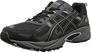 ASICS Men's Gel Venture 5 Running Shoe, Black/Onyx/Charcoal, 12 M US