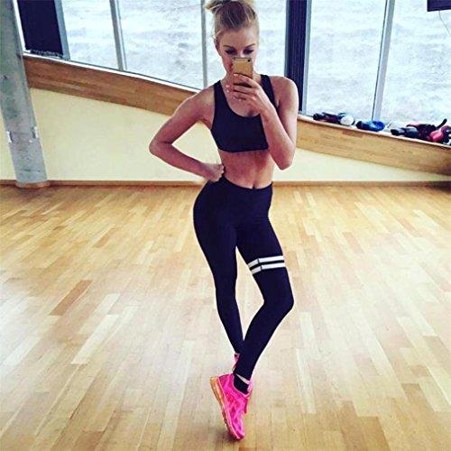 Pantalon de Yoga femmes,Jimma Femmes Yoga Leggings pantalons de sport Workout Gym Fitness sport pantalon