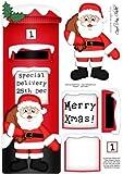 Grande DL Xmas Santa Postbox decoupage 3D by Carol Clarke