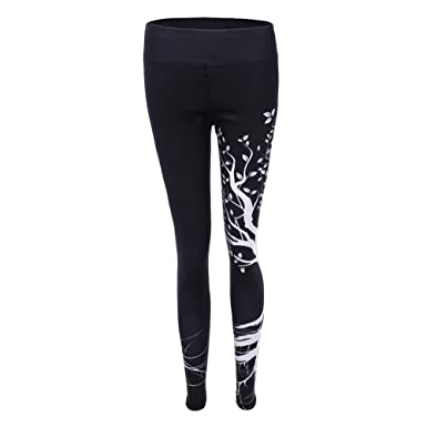 Sfit Femme Leggings Pantalon Collant Imprime Arbre de Vie Yoga Fitness  Jogging Gym Élastique Stretch 08df7bcd1361