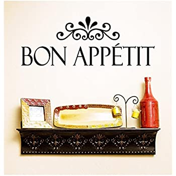 Bon Appetit Kitchen Wall Decal Vinyl Wall Lettering