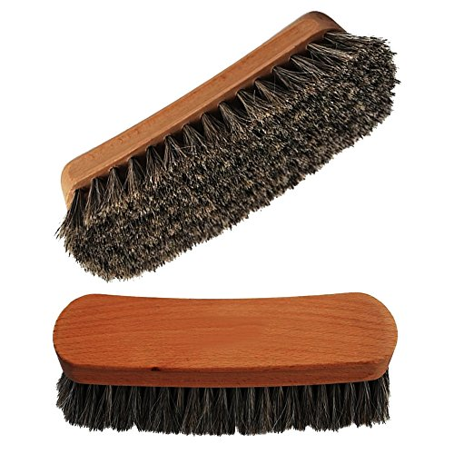 "Price comparison product image Shoeslulu 5"" Mongolian Horsehair Shine Brush with Wood Handle (1 Pack,  [5"" Long] Horsehair Brush)"