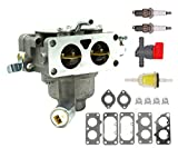 Carbpro 791230 Carburetor Carb with Gasket Kit for Briggs & Stratton V-Twin 4 Cycle 20HP 21HP 23HP 24HP 25HP Vertical Engines Replace 791230 699709 499804