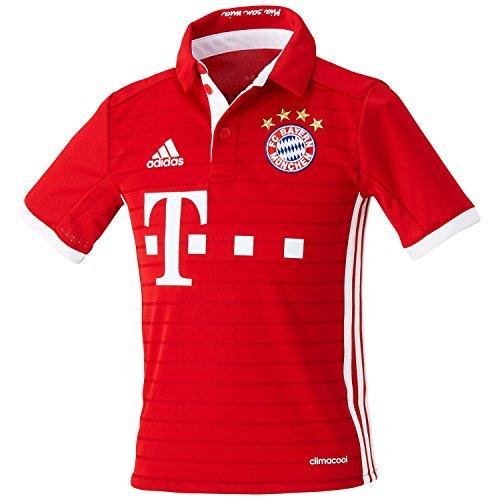 adidas Jungen Fußball/Heim-Trikot FC Bayern München Heimtrikot Replica, Fcb True Red/White, 140
