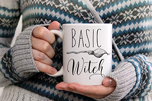 Halloween Mug, Witch Mug, Witches Fall Mug, Basic Witch, Hocus Pocus, Custom Mug, Halloween Decor, Campfire Mug, Scary Cat, Halloween Cat