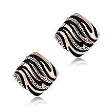Lady Temperament Earrings Character Leopard Earrings Square Earrings