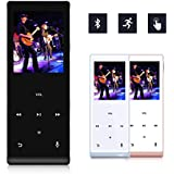 MYMAHDI Music Player, 8GB with Bluetooth MP3 Player Hi-Fi Sound 60 Hours Playback, Portable Audio Player Expandable Up to 128GB (Black)