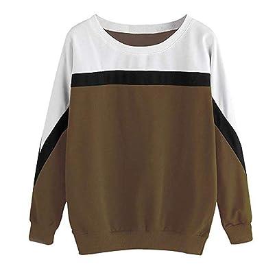 LuckyGirls Mode Femmes Nouveau Automne Hiver à Manches Longues à Couture  Loisirs ad85448084d
