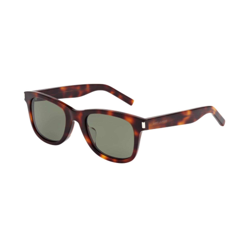 9d66abe6d43 Amazon.com: Saint Laurent SL 51/F Sunglasses 003 Havana / Green Lens 50 mm:  Clothing
