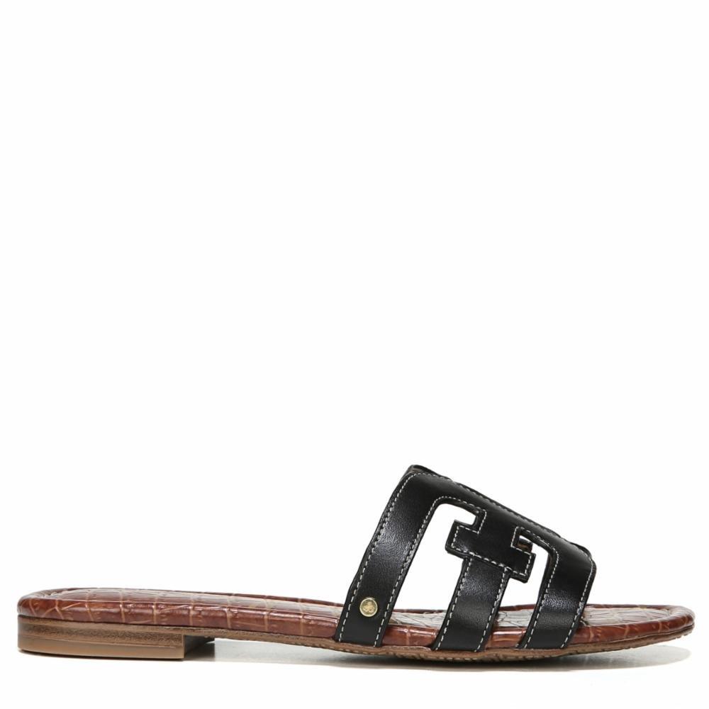 Noir Vaquero Saddle Leather Sam Edelhomme Femmes Slide Chaussures 44 EU