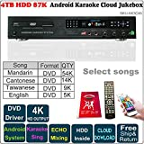 ,Android Karaoke Machine,4TB HDD 87K Chinese,English Songs Player,Jukebox, Cloud download,English Songs Microphone Port, ECHO mixing, DVD Driver,New Update To 2018June. 卡拉OK點歌機,安卓播放器,云下載,國語,粵語,閩南語,英語