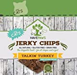 HavePaws Talkin' Turkey Jerky Chips in 4 oz Bag for Cats, Chippable Chip Like Strips