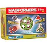 Magformers Magnetic Magic Set, Green/Purple (34-pieces)