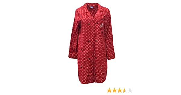 Laura Scott Womens Red Polka Dot Flannel Nightgown Scottie Dog Sleep Shirt  Med at Amazon Women s Clothing store  547039cb6