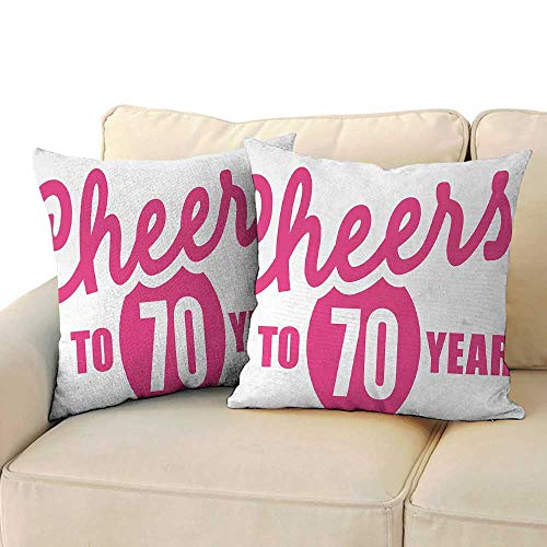 - RenteriaDecor 70th Birthday,Pillow Sofa Waist Cushions Cover 20