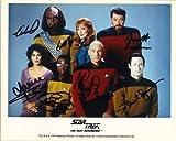 Star Trek The Next Generation Cast Signed Autographed 8 X 10 Reprint Photo - Mint Condition