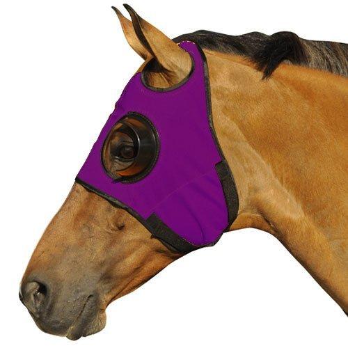 Intrepid International Can't See Back Quarter Cup Blinker Hood, Purple]()