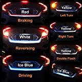 "4 Color Flow Type LED Strip Tailgate Turning Signal Lights Bar Trunk Strips Lamp Flowing Side Rear Light 120cm 47"" 48"""