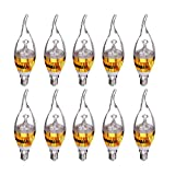 Candle Light Bulb - SODIAL(R) E14 3W Warm White LED Candelabra Chandelier Candle Light Bulb Base type & Wattage:E14 Golden 3W Light Color:Warm White Pack of:10Pcs