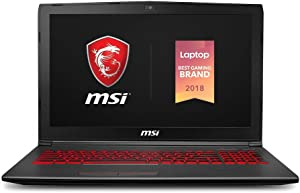 MSI GV62 8RD-276 15.6in Gaming Laptop NVIDIA GTX 1050Ti 4G i7-8750H 16GB, 128GB NVMe SSD + 1TB HDD, Red Backlit KB, Win 10 Home, Aluminum Black (Renewed)