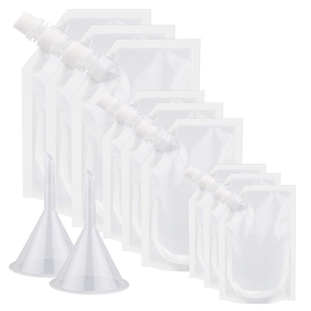 【最安値に挑戦】 Alcoon 11 Pieces Plastic Liquor Plastic Flask Concealable Concealable and Plastic Reusable Plastic Drinking Flasks Liquor Pouches 235ml, 423ml, 1000ml and with Plastic Funnel B07DDHPJ4G, 快適エレキング:ac81cc24 --- a0267596.xsph.ru