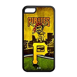 Baseball Pittsburgh Pirates Team Design Background for iPhone 5C TPU Case-by Allthingsbasketball