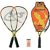 Speedminton Junior Set - Original Speed Badminton / crossminton children's set includes 2 kids rackets, 2 FUN Speeder and bag.