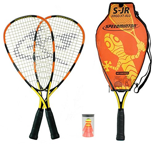 Speedminton Junior Set - Original Speed ​​Badminton / crossminton children's set includes 2 kids rackets, 2 FUN Speeder and bag.