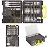 Ryobi Accessory Set complete with Drill bits & Screwdriver bits in handy carrying case (100 Pieces) by Ryobi