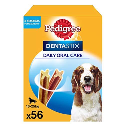 Comprar Pedigree Pack de 56 Dentastix de uso diario para la limpieza dental de perros medianos (Pack de 1) - Tiendas Online Envíos Baratos o Gratis 24/48H