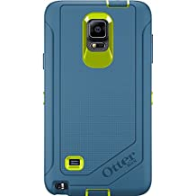 Otterbox Samsung Galaxy Note 4 Defender Series Case with Belt Clip Holster, Retail Packaging, Citron/Water (Discontinued by Manufacturer)