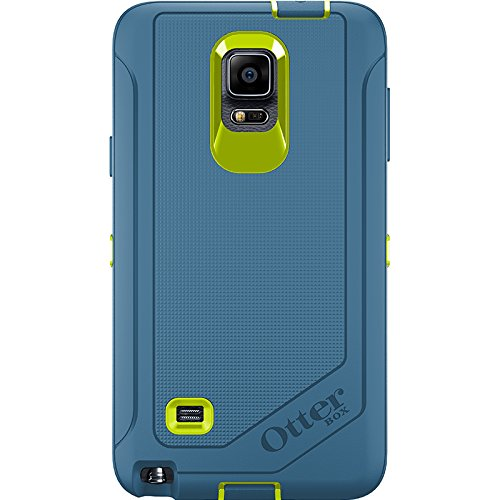 Otterbox Samsung Galaxy Note 4 Defender Series Case with Belt Clip Holster - Retail Packaging - Citron/Water