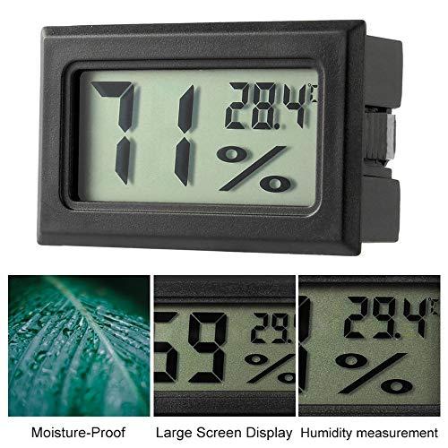 Noir Thermom/ètre num/érique LCD professionnel Hygrom/ètre Humidit/é Temp/érature M/ètre Capteur daffichage num/érique LCD int/érieur