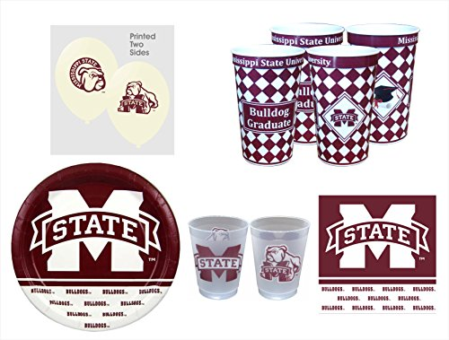 (Mississippi State Bulldogs GRADUATION Party Pack - 57 pieces )
