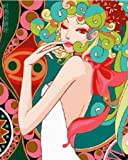 Diy oil painting, paint by number kit- Fashion Lady 1620 inch.