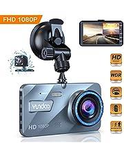 Cámara de Coche Dash CAM 4 Pulgadas Camara Delantera y Trasera 1080P Full HD 170° Cámara para Lente G, grabación de Ciclo, WDR, monitoreo de estacionamiento, Movimiento de detección
