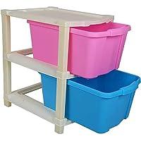 PINGAX RETAIL Foldable Modular Drawer Organizer Multipurpose Drawers Boxes Storage Rack, Extra Large Basket, Plastic…