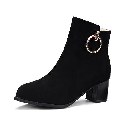 AdeeSu Womens Square Heels Glitter Not_Water_Resistant Suede Boots SXC02483