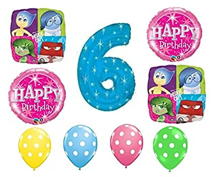 Image Unavailable Not Available For Color Inside Out Happy 6th Birthday Balloon Decoration Kit