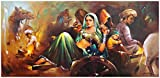 Avercart Beautiful Indian Village Painting Vinage Scene of India Poster 40x20 inch Unframed (100x50 cm rolled)