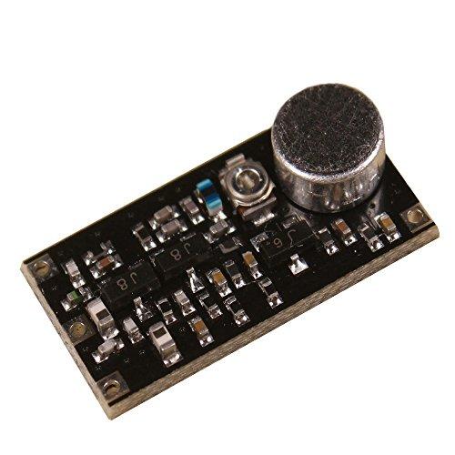 Solu FM Transmitter Module Radio Microphone Wireless Microphone Module//FM Ham Radio FM Transmitter Module 85-115mHz Wireless Microphone Frequency 2-12V by solu