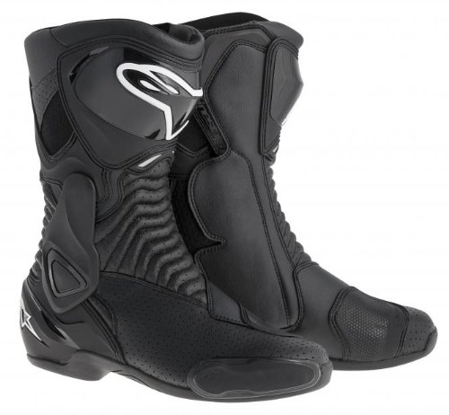 Vented Racing Boots - Alpinestars SMX-6 Men's Motorcycle Street Boots Vented (Black, EU Size 44)