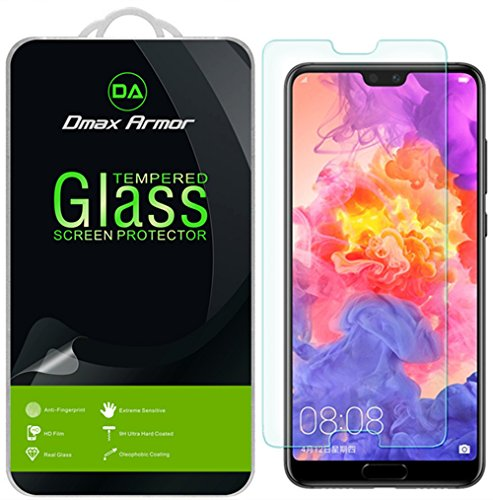 [2-Pack] Dmax Armor for Huawei P20 Pro [Tempered Glass] Screen Protector  with Lifetime Replacement