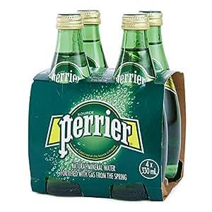 PERRIER Regular Sparkling Mineral Water - 4 x 330 ml