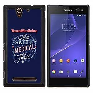 """Be-Star Único Patrón Plástico Duro Fundas Cover Cubre Hard Case Cover Para Sony Xperia C3 D2533 / C3 Dual D2502 ( Medicina de Texas Medical Corazón Azul"""" )"""