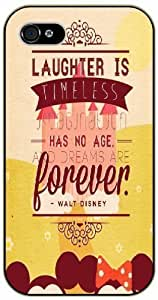 Laughter is timeless, imagination has no age and dreams are forever - iphone 5c black plastic case / Inspiration Walt Disney quotes WANGJING JINDA