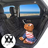 Wot i Dog Car Seat Covers for Back Seat, 58X54, Dog Seat Cover Durable Nonslip Car Seat Covers for Dogs Machine Washable, Dog Hammock for Back Seat Universal Fit for Small Medium Large Dogs, Black For Sale